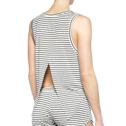 ZEAL STRIPED SPLIT BACK TANK