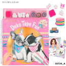Top Model Colouring Book Dog With Masking Tapes