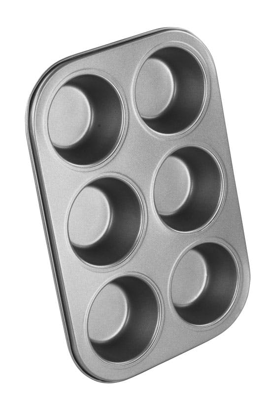NonStick Chef Aid 6 Cup Muffin Tray