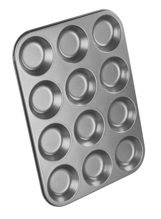 NonStick Chef Aid 12 Cup Shallow Bun Tin