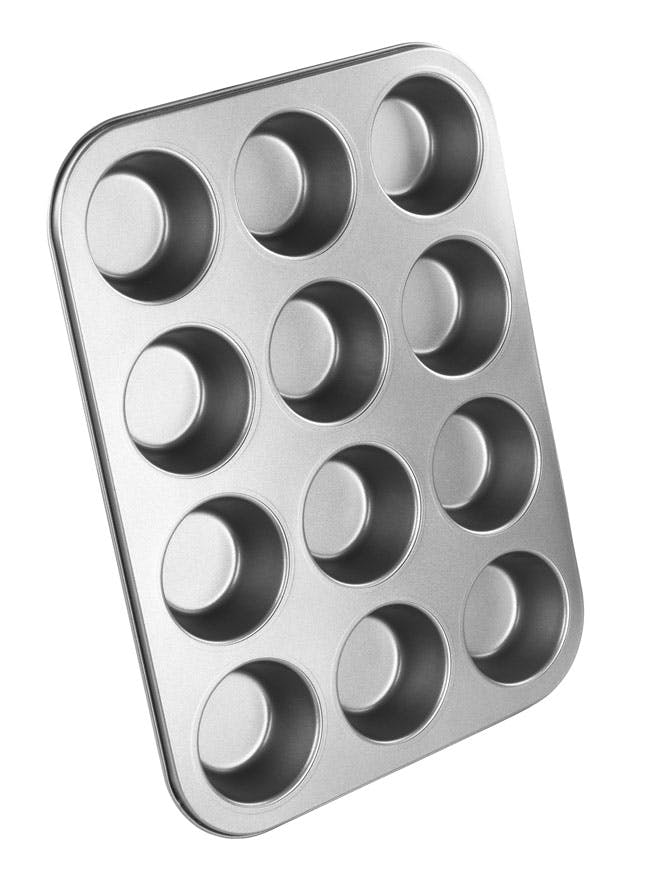 NonStick Chef Aid 12 Cup Muffin Tray