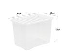80 Litre Crystal Box & Lid - Clear