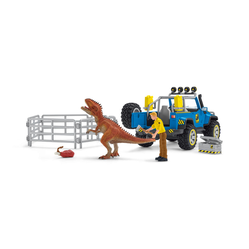 Schleich Off Road Vehicle With Dinosaur Outpost