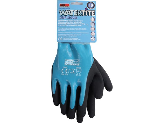 Watertite Latex Coated Glove 10/ Extra Large