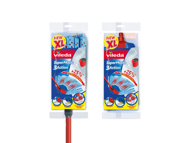 SuperMocio 3 Action XL Mop and Refill