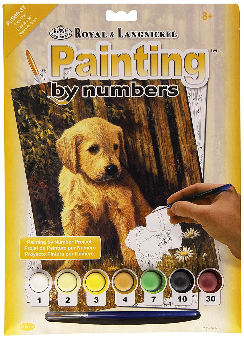 Paint By Numbers Lab Puppy