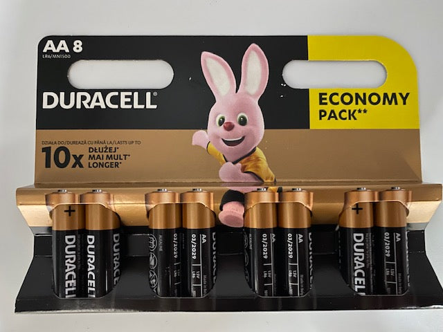Batteries AA Duracell 8pk
