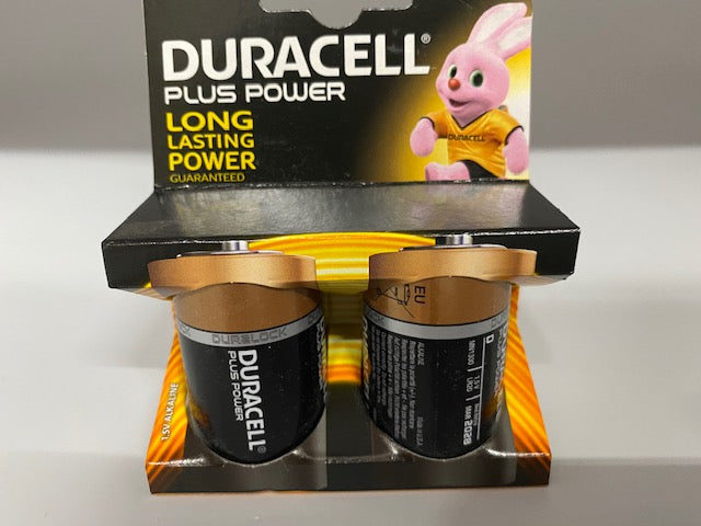 Batteries D Duracell 2pk