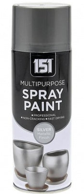 151 Multi Purpose Spray Paint Metallic Silver 400ML