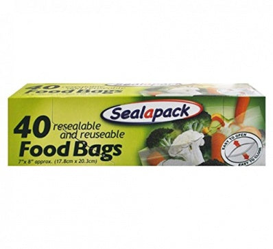 Sandwich Bags 7x8in 40 Pack