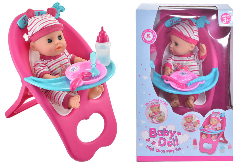 Baby Doll Highchair Playset