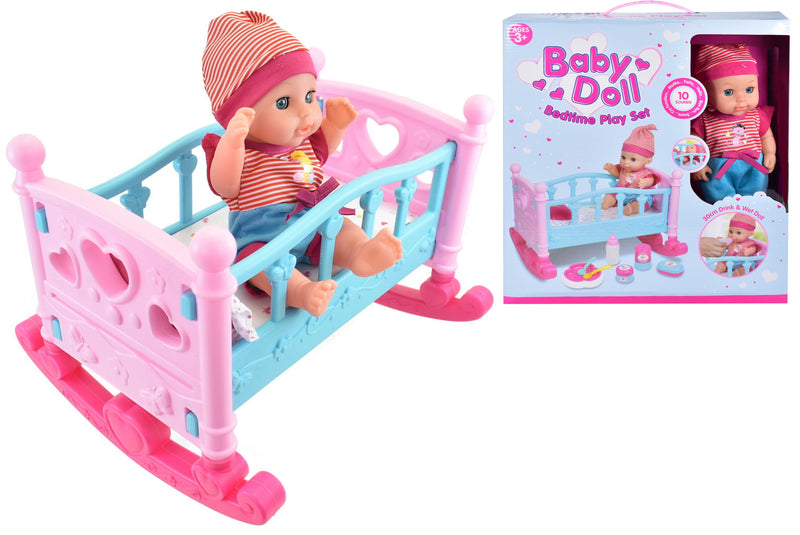 Baby Doll Bedtime Playset