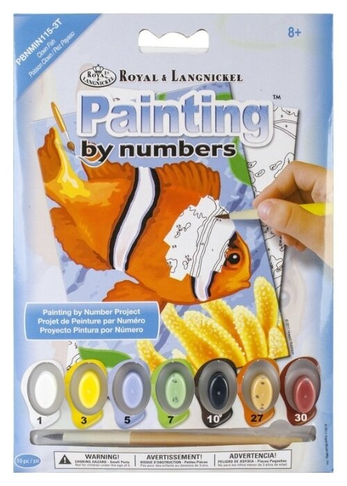 Paint By Numbers Clown Fish