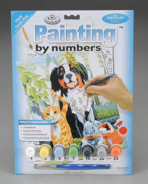 Paint By Numbers Family Pets