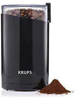 KRUPS F203 Electric Spice and Coffee Grinder with Stainless Steel Blades 3 oz / 85 g Black: Kitchen & Dining - Appliances