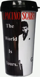 Scarface Movie Theme The World Is Yours 16 Ounce Travel Mug