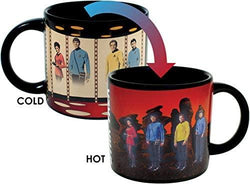 Star Trek Transporter Heat Changing Mug - Add Coffee or Tea and Kirk, Spock, McCoy and Uhura Appear on the Planet's Surface - Comes in a Fun Box: Office Products