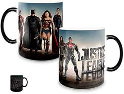 Morphing Mugs Justice League Movie (United We Stand) Heat Reveal Ceramic Coffee Mug - 11 Ounces: Kitchen & Dining