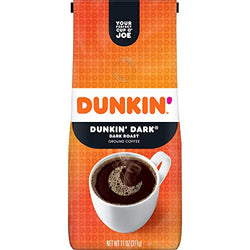 Dunkin' Dark Roast Ground Coffee, 11 Ounces (Packaging May Vary)