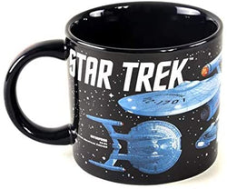 Star Trek - Starships of Star Trek Coffee Mug - Different Star Ships as well as Their Captains - Comes in a Fun Gift Box: Kitchen & Dining