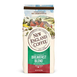 New England Coffee New England Breakfast Blend, Decaffeinated, 10 Ounce