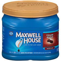 Maxwell House House Blend Medium Roast Ground Coffee (24.5 oz Canister) : Grocery & Gourmet Food