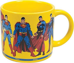 Superman Through the Years Coffee Mug - Eight of the Most Iconic Depictions of Superman from the 1940s Through the Present - Comes in a Fun Box: Kitchen & Dining