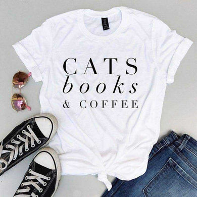 Cats Books & Coffee - T-shirts