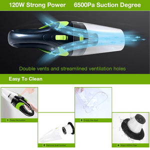 Cordless Power Vacuum Cleaner | Wet and Dry Dual Use | For home & Office | 6500pa  DC 12V 120W