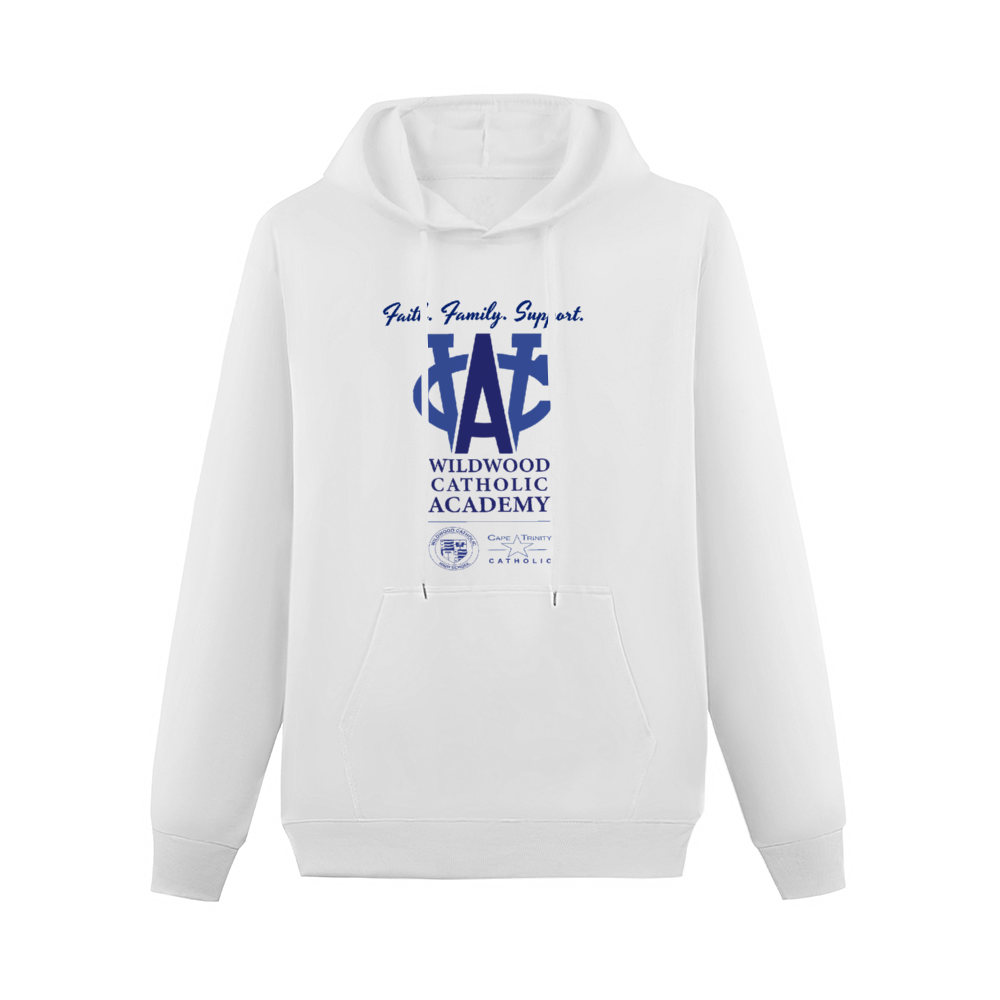 Wildwood Catholic Academy Hoodie White with Pocket for Women