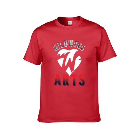 Wildwood Arts Short-Sleeved Red T-Shirt for Men