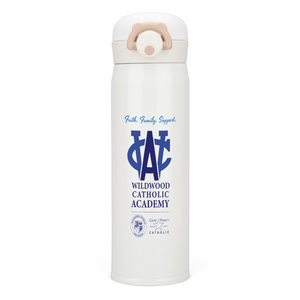 WCA Support Thermal Insulated Water Bottle 17oz, Stainless Steel Vacuum Insulated Mug-White