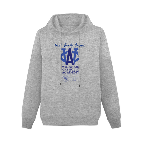 Wildwood Catholic Academy Support Hoodie Gray with Pocket for Men