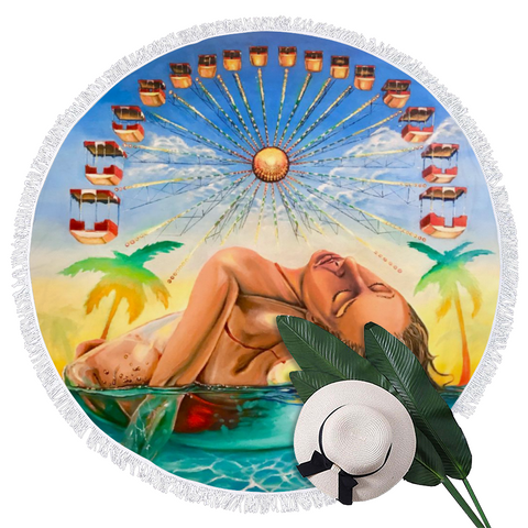 FLOAT Wildwood Round Beach Towel - Beach Mat