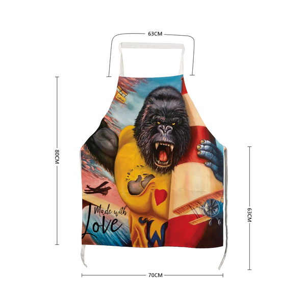 "Love Wildwood Kong Apron With Two Pockets 27.5"" x 31.5"""