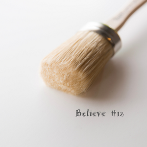 Believe #12 Oval Brush