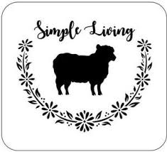 Farm Animal Set Stencil