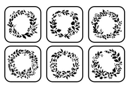 Floral Wreath Mini Stencil
