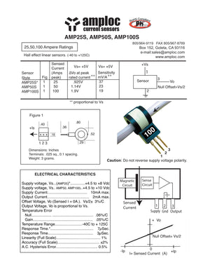 AMP100S LINEAR HALL EFFECT CURRENT SENSOR