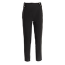 Pantalone donna elegante vita alta stretto slim fit made in italy 1476 - Nada Home