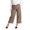 Pantalone donna ampio in fantasia tasca uomo casual made in italy 1481 - Nada Home