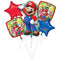 Bouquet di 5 palloncini foil Super Mario Bros decorazioni party 1782 - Nada Home