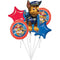 Bouquet di 5 palloncini foil per feste Paw Patrol decorazioni party 1824 - Nada Home