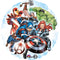 Pallone foil per feste di compleanno Marvel Avengers decorazioni party 1826 - Nada Home