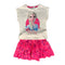 Maglietta con gonna Disney Frozen II T-shirt in cotone vestitino stampato 1827 - Nada Home