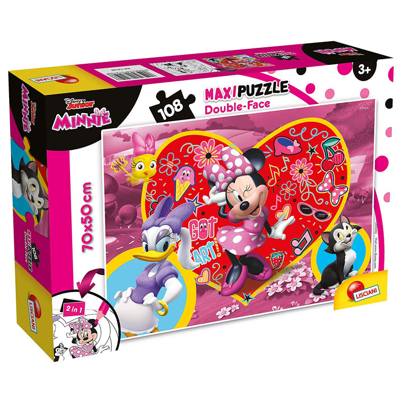 Puzzle maxi double-face Disney Minnie Paperina 108 pz retro colorabile 3362