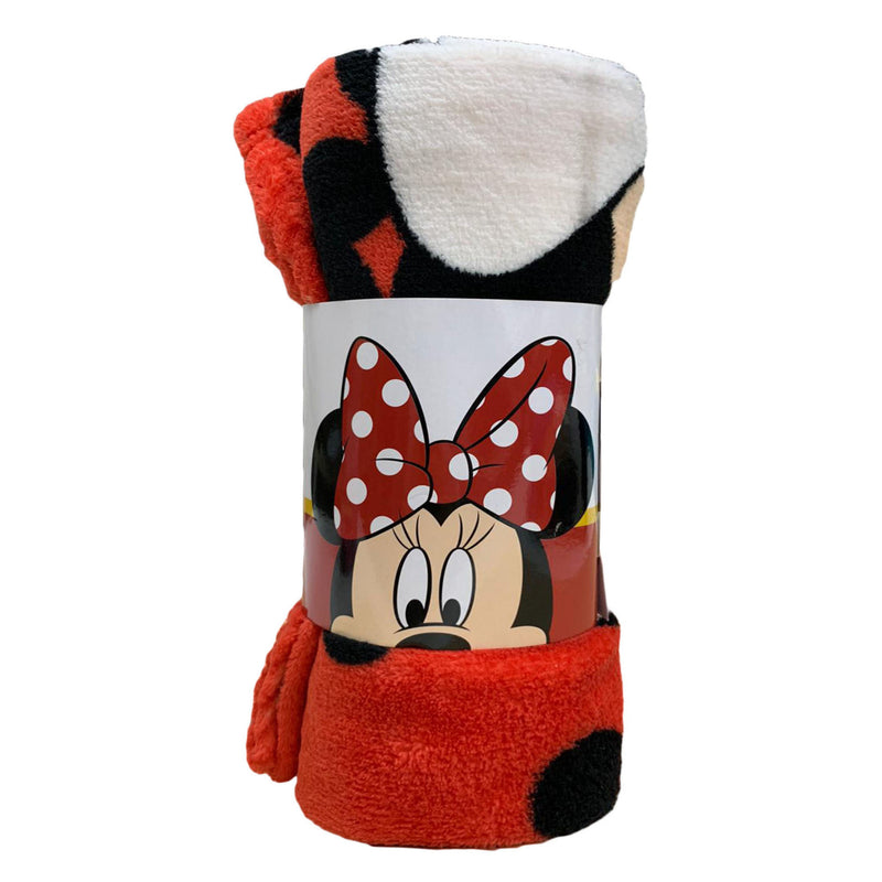 Plaid pile Disney Minnie Mouse morbida coperta stampa Coral Fleece Blanket 3455