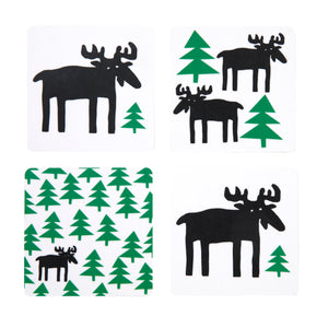 'Moose in the Forest Coasters'