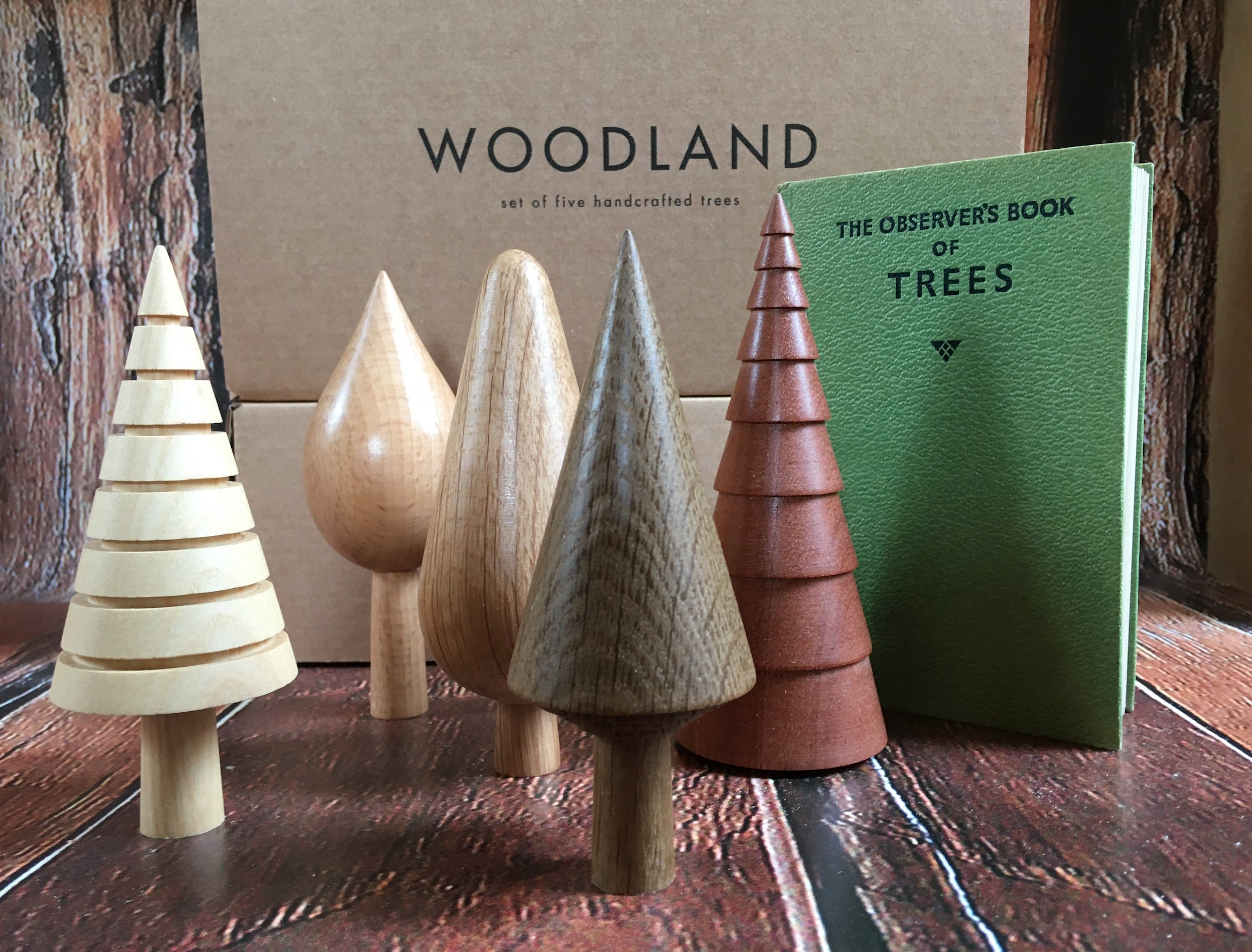 Woodland of Hand Crafted Trees