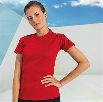 Customisable, personalise Women's TriDri® Panelled Tech Tee - Stitch & Print NI